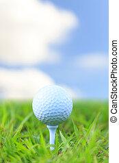 balle, tee golf