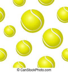 balle, tennis, fond