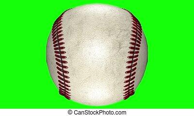 balle, tourner, milieu, animation, arrière-plan., base-ball, transparent, 3d