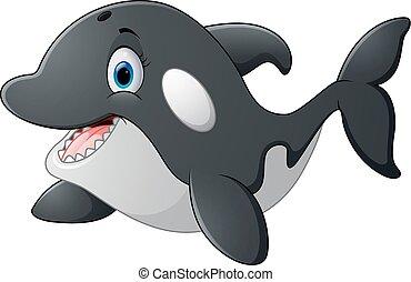 ballena, asesino, caricatura