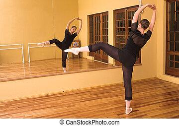 Ballerina #54 - Ballerina dancing in studio