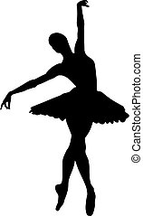 Abstract vector illustration of dancing ballerina