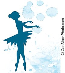 Ballerina and artistic background - banner illustration