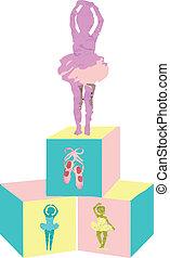ballerina, baby, block