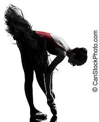 ballerina, ballett, woman, tanzt, junger, tänzer
