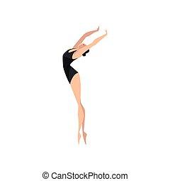 ballerina, balletto, classico, ballo, ballo, illustrazione, vettore, ballerino, fondo, professionale, bianco, beautifull