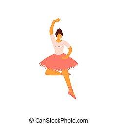 ballerina, balletto, classico, ballo, ballo, illustrazione, vettore, professionale