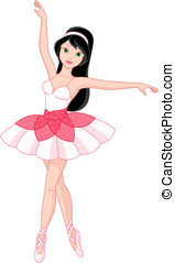 Ballerina - Beautiful girl dancing ballet
