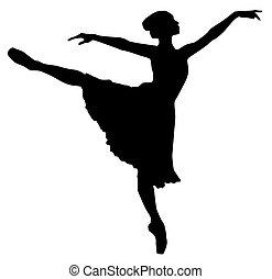 Ballerina - Vector illustration of a ballerina in classic...