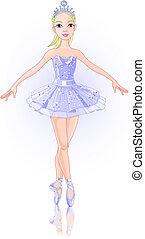 Ballerina - A vector illustration of  beautiful ballerina.