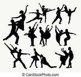 Ballerina dance training silhouette