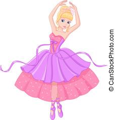 Ballerina - Beautiful princess dances ballet