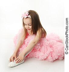 ballerina, hübsch, vorschulisch