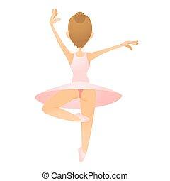 Ballerina icon, flat style