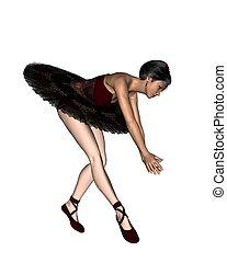 Ballerina in a Red Tutu - 2