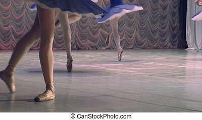 Ballerina in blue at the theater