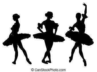 Ballerina in costume - Ballerina in theatrical costume on a...