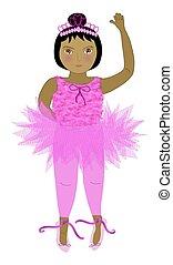 Ballerina in Tutu - dark hair/skin