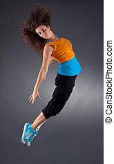 ballerina is dancing gracefully