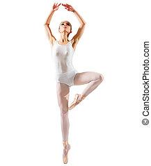 Ballerina (isolated on white ver) - Young ballerina...