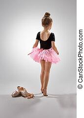 ballerina - little girl plays in the ballet