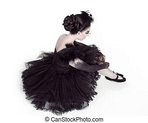 ballerina., mode, kunst- portrait, von, schöne , girl., mode, stil, woman., freigestellt, weiß, hintergrund