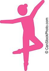 Ballerina Pictogram