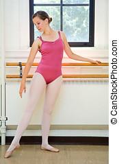 Ballerina Practicing