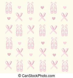 ballerina, scarpe, fondo