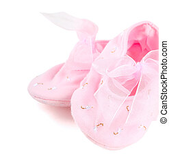 Ballerina shoes - Pair of pink ballerina shoe close-up ...