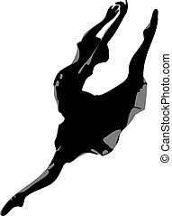 Silhouette of the ballerina