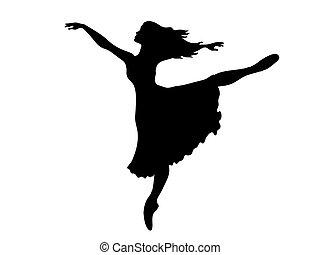 Sihouette of a Ballerina performing an arabesque