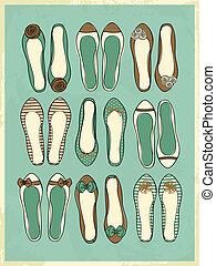 ballerina, skor, kollektion