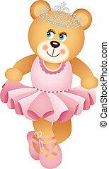 Ballerina Teddy Bear - Scalable vectorial image representing...