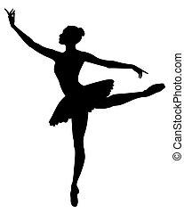 Ballerina - Abstract vector illustration of dancing...