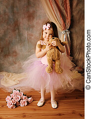 ballerina, wenig, schoenheit