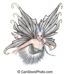 Ballerina Winter Fairy Flying