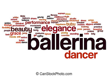 Ballerina word cloud concept
