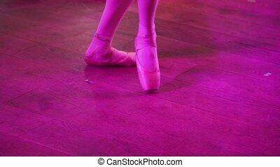 Ballerina. Young graceful woman ballet dancer, dressed in...
