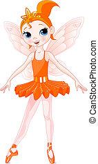 ballerinas, (rainbow, ballerina, series)., kleuren, sinaasappel