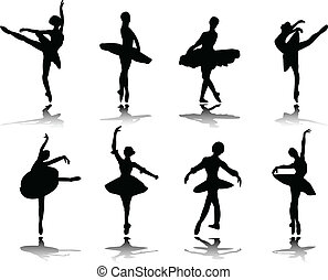 ballerinas with reflection - Collection of ballerinas with...