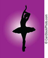ballerine, 2, fond