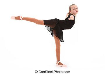 ballerine, coupure, danseur, sentier, enfant