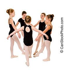 ballerine, danseurs, jeune, joli