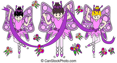 ballerine, farfalle