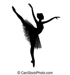 ballerine, fond blanc