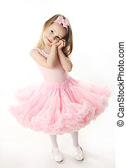 ballerine, joli, préscolaire