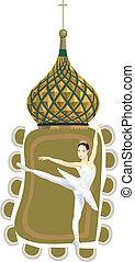 ballerine, kremlin, dôme