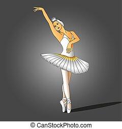 ballerine, robe blanche