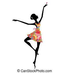 ballerine, robe fleur